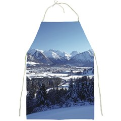 SNOWY MOUNTAINS Full Print Aprons
