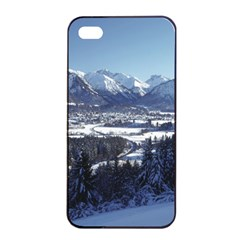 SNOWY MOUNTAINS Apple iPhone 4/4s Seamless Case (Black)