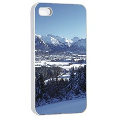 SNOWY MOUNTAINS Apple iPhone 4/4s Seamless Case (White)