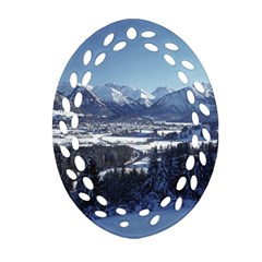 SNOWY MOUNTAINS Ornament (Oval Filigree)
