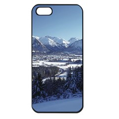 SNOWY MOUNTAINS Apple iPhone 5 Seamless Case (Black)