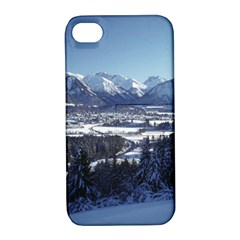 SNOWY MOUNTAINS Apple iPhone 4/4S Hardshell Case with Stand