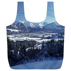 SNOWY MOUNTAINS Full Print Recycle Bags (L)