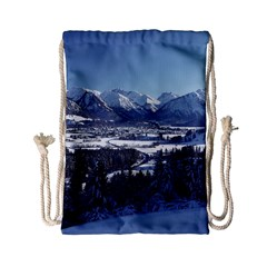 Snowy Mountains Drawstring Bag (small)