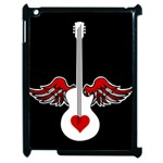Flying Heart Guitar Apple iPad 2 Case (Black) Front