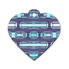 Modern Pattern Factory 01 Dog Tag Heart (Two Sides)