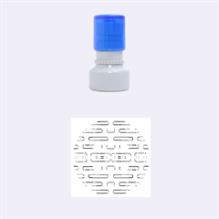 Modern Pattern Factory 01 Rubber Round Stamps (Small)