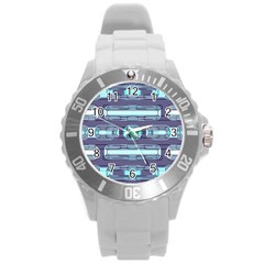 Modern Pattern Factory 01 Round Plastic Sport Watch (L)