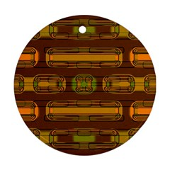 Modern Pattern Factory 01b Ornament (Round)