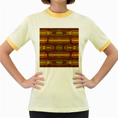 Modern Pattern Factory 01b Women s Fitted Ringer T-Shirts