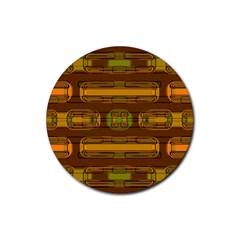 Modern Pattern Factory 01b Rubber Round Coaster (4 pack)