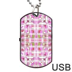 Modern Pattern Factory 01 Dog Tag USB Flash (One Side)