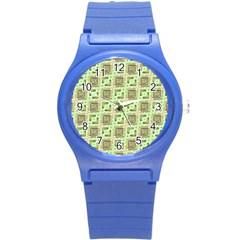Modern Pattern Factory 04 Round Plastic Sport Watch (S)