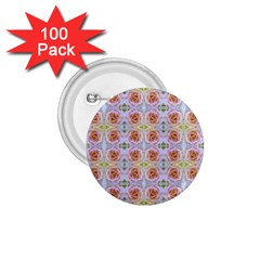 Pink Light Blue Pastel Flowers 1.75  Buttons (100 pack)