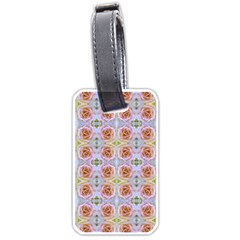 Pink Light Blue Pastel Flowers Luggage Tags (One Side)