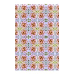 Pink Light Blue Pastel Flowers Shower Curtain 48  x 72  (Small)
