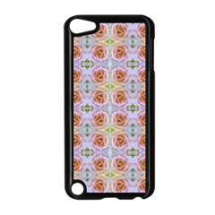 Pink Light Blue Pastel Flowers Apple iPod Touch 5 Case (Black)