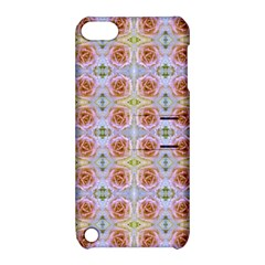 Pink Light Blue Pastel Flowers Apple iPod Touch 5 Hardshell Case with Stand