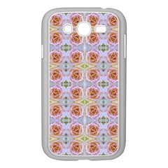 Pink Light Blue Pastel Flowers Samsung Galaxy Grand Duos I9082 Case (white)