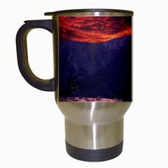 SAN GABRIEL MOUNTAIN SUNSET Travel Mugs (White)