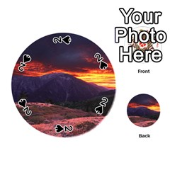 SAN GABRIEL MOUNTAIN SUNSET Playing Cards 54 (Round)