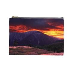 SAN GABRIEL MOUNTAIN SUNSET Cosmetic Bag (Large)