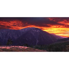 SAN GABRIEL MOUNTAIN SUNSET YOU ARE INVITED 3D Greeting Card (8x4)