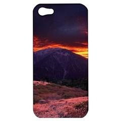 SAN GABRIEL MOUNTAIN SUNSET Apple iPhone 5 Hardshell Case