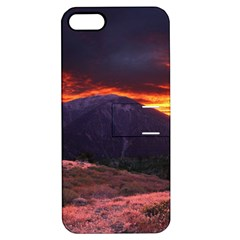 SAN GABRIEL MOUNTAIN SUNSET Apple iPhone 5 Hardshell Case with Stand