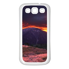 SAN GABRIEL MOUNTAIN SUNSET Samsung Galaxy S3 Back Case (White)