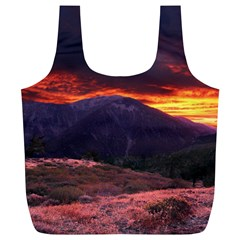 SAN GABRIEL MOUNTAIN SUNSET Full Print Recycle Bags (L)
