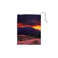 San Gabriel Mountain Sunset Drawstring Pouches (xs)