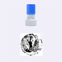 Mountain Path Rubber Round Stamps (small)