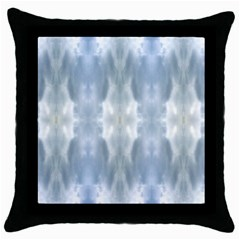 Ice Crystals Abstract Pattern Throw Pillow Cases (Black)