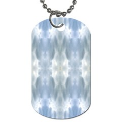 Ice Crystals Abstract Pattern Dog Tag (Two Sides)
