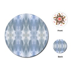 Ice Crystals Abstract Pattern Playing Cards (Round)
