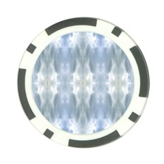 Ice Crystals Abstract Pattern Poker Chip Card Guards