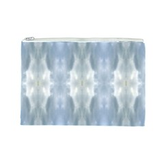 Ice Crystals Abstract Pattern Cosmetic Bag (Large)