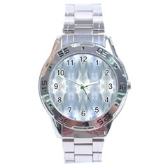 Ice Crystals Abstract Pattern Stainless Steel Men s Watch