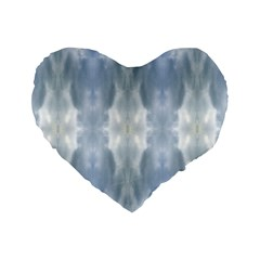 Ice Crystals Abstract Pattern Standard 16  Premium Heart Shape Cushions