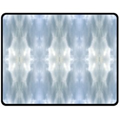 Ice Crystals Abstract Pattern Double Sided Fleece Blanket (Medium)