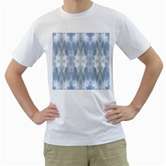 Ice Crystals Abstract Pattern Men s T-Shirt (White)