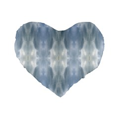 Ice Crystals Abstract Pattern Standard 16  Premium Flano Heart Shape Cushions