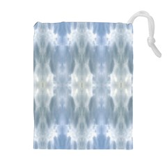 Ice Crystals Abstract Pattern Drawstring Pouches (Extra Large)