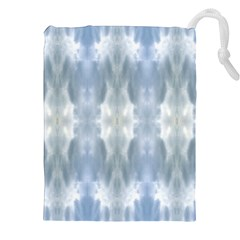 Ice Crystals Abstract Pattern Drawstring Pouches (XXL)