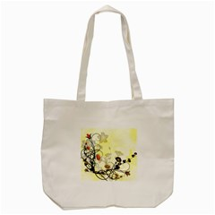 Wonderful Flowers With Leaves On Soft Background Tote Bag (Cream)