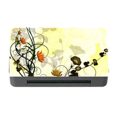 Wonderful Flowers With Leaves On Soft Background Memory Card Reader with CF