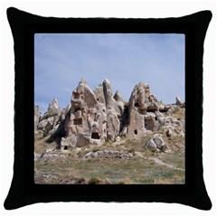 Cappadocia 1 Throw Pillow Cases (black)