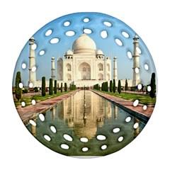 Taj Mahal Round Filigree Ornament (2side)