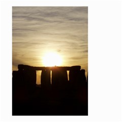 Sunset Stonehenge Small Garden Flag (two Sides)